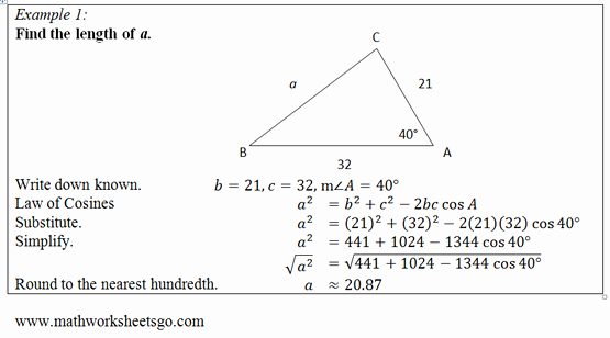 Law Of Cosines Worksheet Unique Law Of Cosines Worksheet Free Pdf with Answer Key Visual