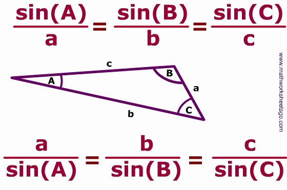 Law Of Sines Worksheet Answers Awesome Law Of Sines and Cosines Worksheet with Key Pdf