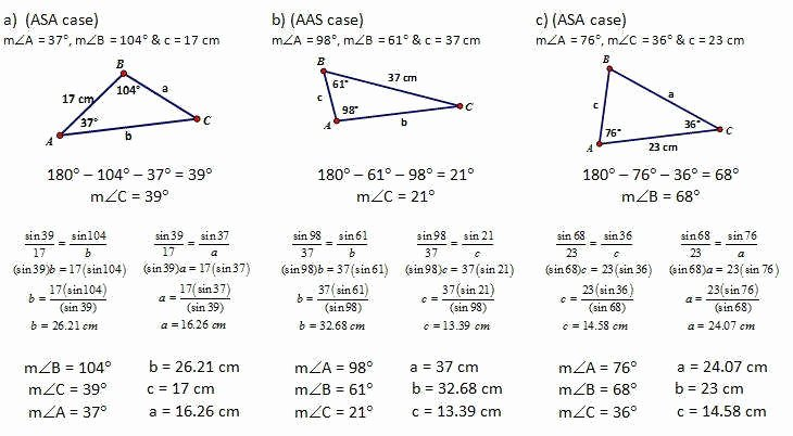 Law Of Sines Worksheet Answers Beautiful Law Sines and Cosines Worksheet