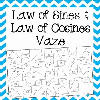 Law Of Sines Worksheet Awesome Law Of Sines and Law Of Cosines Maze Worksheet
