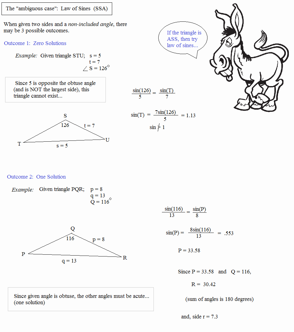Law Of Sines Worksheet Awesome Math Plane Law Of Sines and Cosines & area Of Triangles
