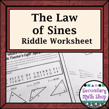 Law Of Sines Worksheet Beautiful Right Triangles the Law Of Sines Practice Riddle