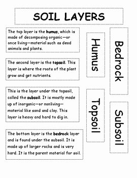 Layers Of soil Worksheet Beautiful soil Layers Flipbook Diagram Labels by Sabrina Mink