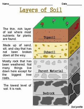 Layers Of soil Worksheet Inspirational Layers Of soil Worksheets by Growing Roots and Building