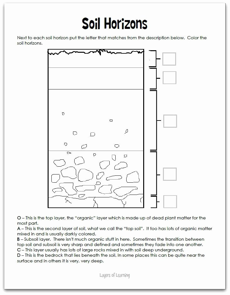 Layers Of soil Worksheet Lovely Unit 1 16 Science