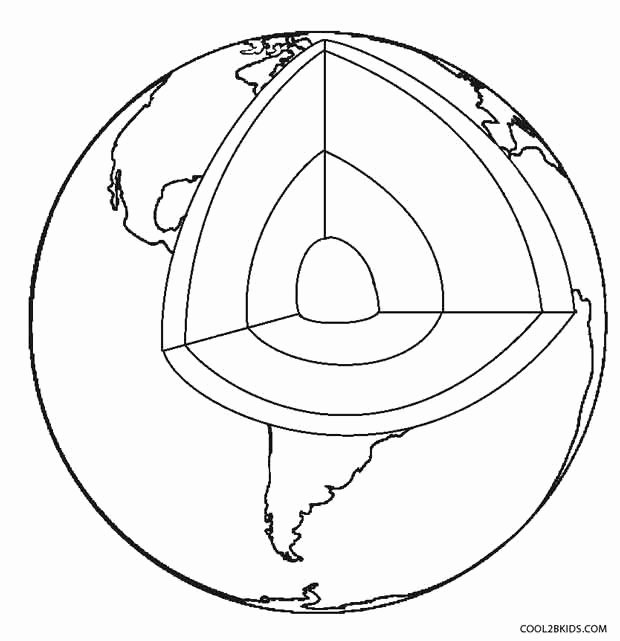 Layers Of the Earth Worksheet Awesome Printable Earth Coloring Pages for Kids