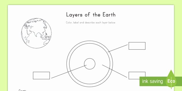 Layers Of the Earth Worksheet Beautiful Layers Of the Earth Worksheet Worksheet Earth Layers