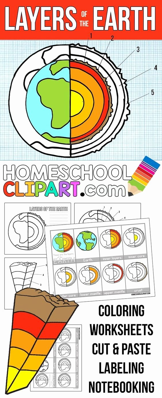 Layers Of the Earth Worksheet Best Of Free Layers Of the Earth Printables Notebooking Pages