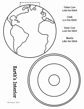 Layers Of the Earth Worksheet Elegant Layers Of Earth S Interior by Mighty In Middle School