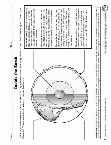 Layers Of the Earth Worksheet Lovely Layers Of the Earth Worksheet