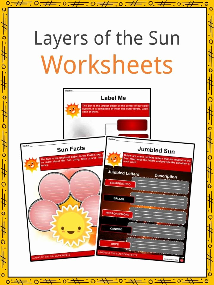 Layers Of the Sun Worksheet Best Of Layers Of the Sun Facts Worksheets & the Sun for Kids