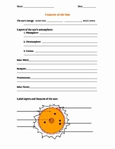 Layers Of the Sun Worksheet Lovely the Instructions for the Cell as A Factory Worksheet Were