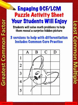 Lcm and Gcf Worksheet Elegant Gcf and Lcm Differentiated Worksheets with Mon Core