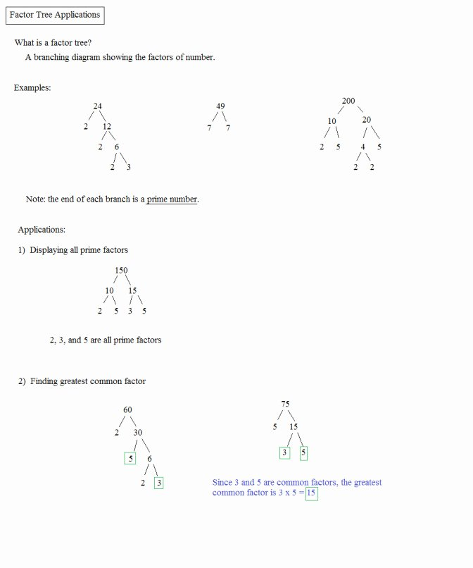 Lcm and Gcf Worksheet Elegant Gcf Worksheet