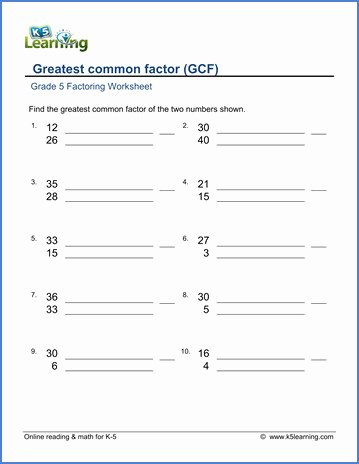 Lcm and Gcf Worksheet Fresh Lcm and Gcf Worksheet
