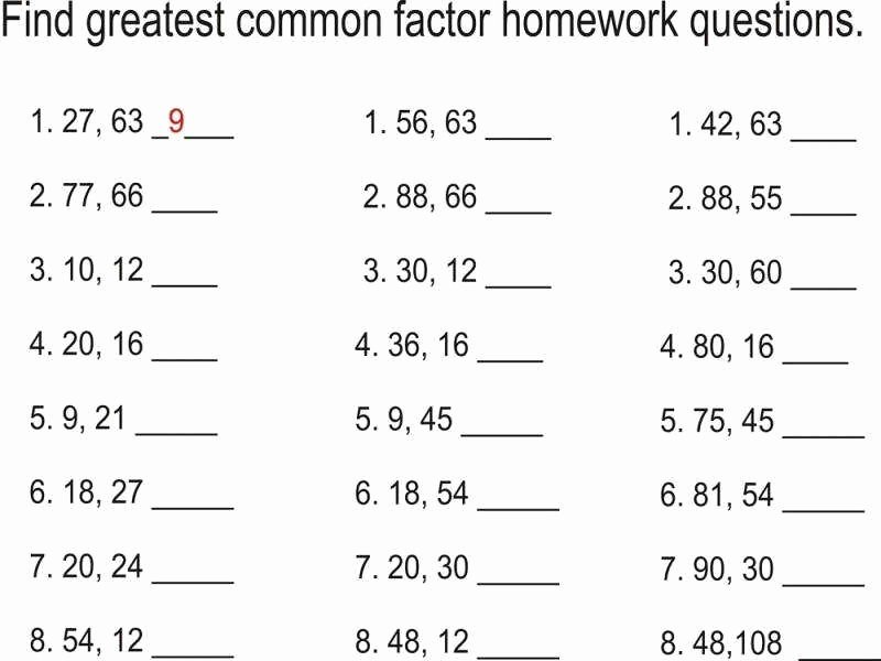 Lcm and Gcf Worksheet Lovely Lcm and Gcf Worksheet