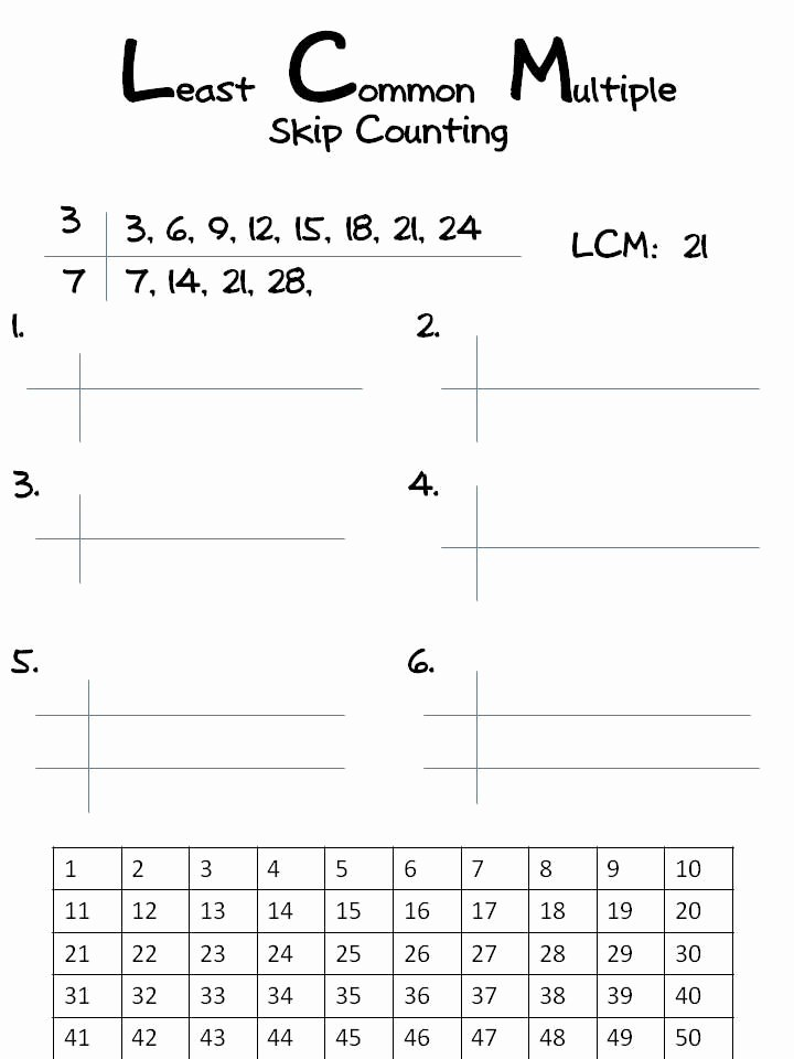 Least Common Multiple Worksheet Awesome Lcm Least Mon Multiple Classroom Freebies