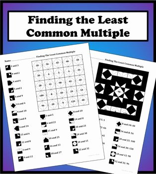 Least Common Multiple Worksheet Beautiful Finding the Least Mon Multiple Lcm Color Worksheet by