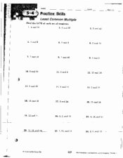 Least Common Multiple Worksheet New Least Mon Multiple 9th Grade Worksheet