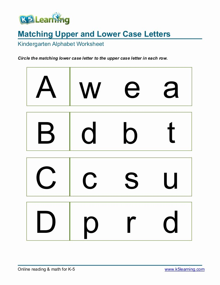 Letter D Worksheet for Preschool Awesome Kindergarten Matching Letters A B C D
