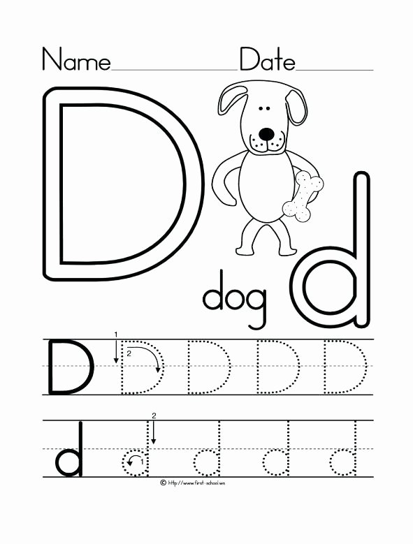Letter D Worksheet for Preschool Beautiful 26 Learner Friendly Letter D Worksheets