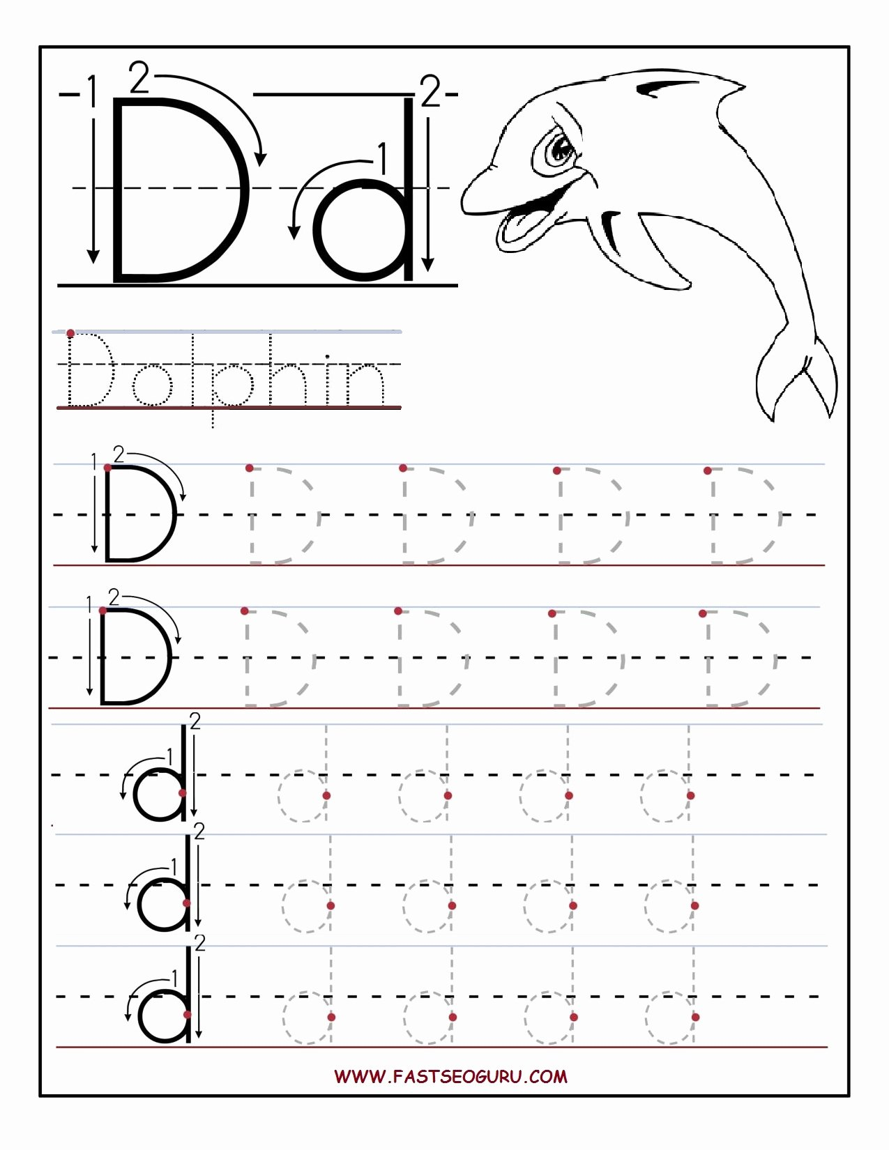 Letter D Worksheet for Preschool Best Of Tracing Worksheets Letter D and Printable Letters On
