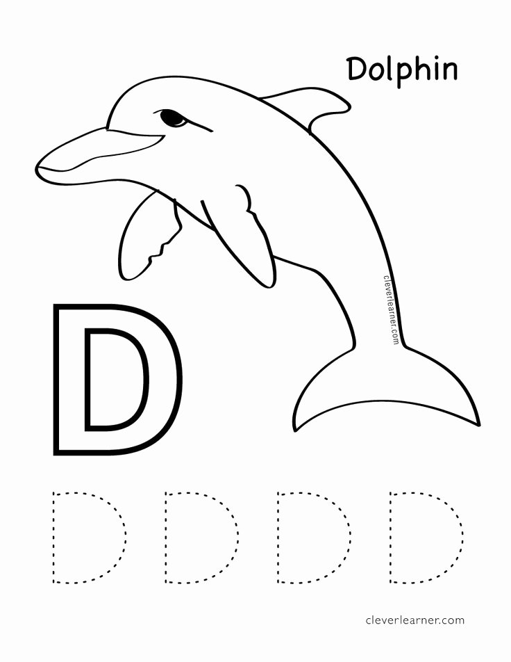 Letter D Worksheet for Preschool Elegant D is for Dolphin Free Letter Practice Worksheets for
