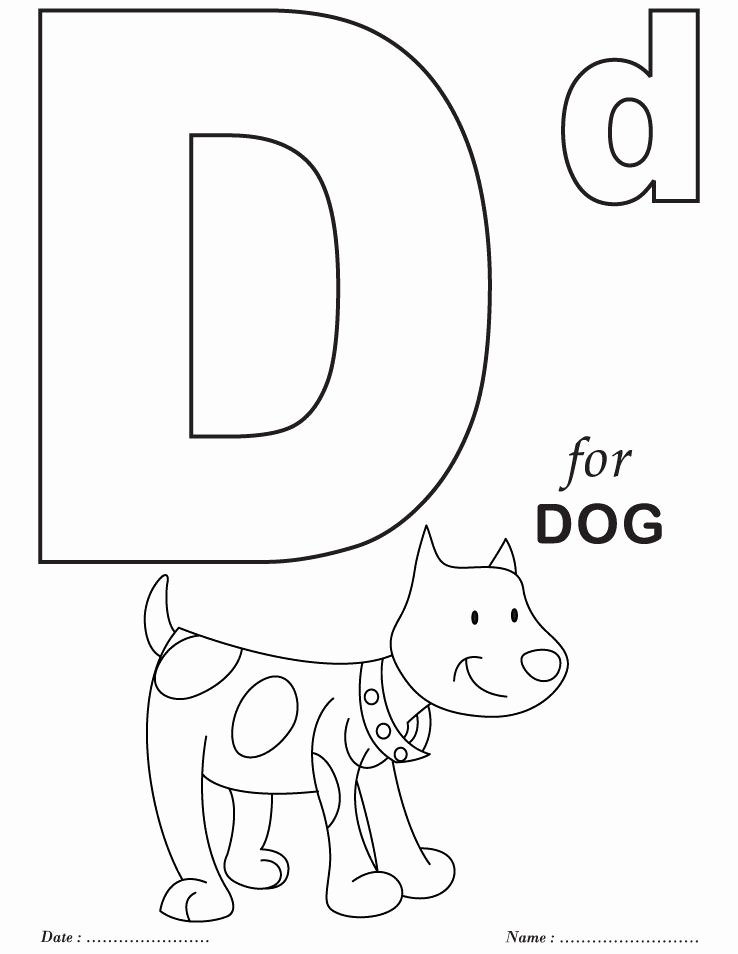 Letter D Worksheet for Preschool Elegant Printables Alphabet D Coloring Sheets School