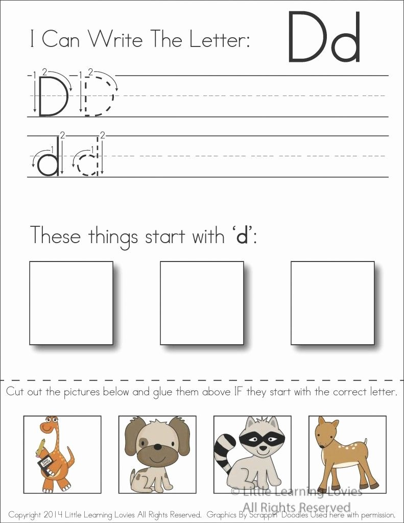 Letter D Worksheet for Preschool Elegant Subscriber Exclusive Freebie Letter D Write Cut
