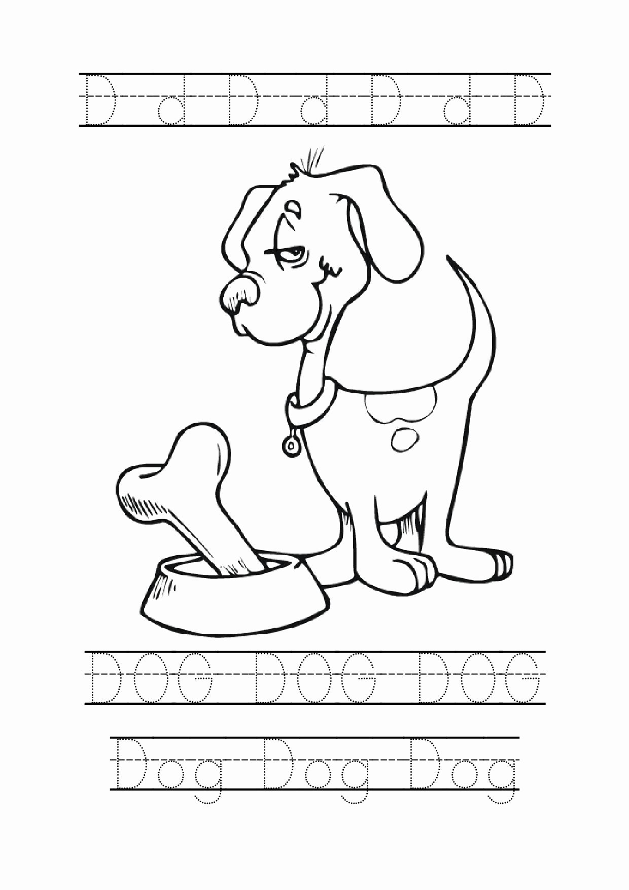 Letter D Worksheet for Preschool Fresh Letter D Tracing Dog
