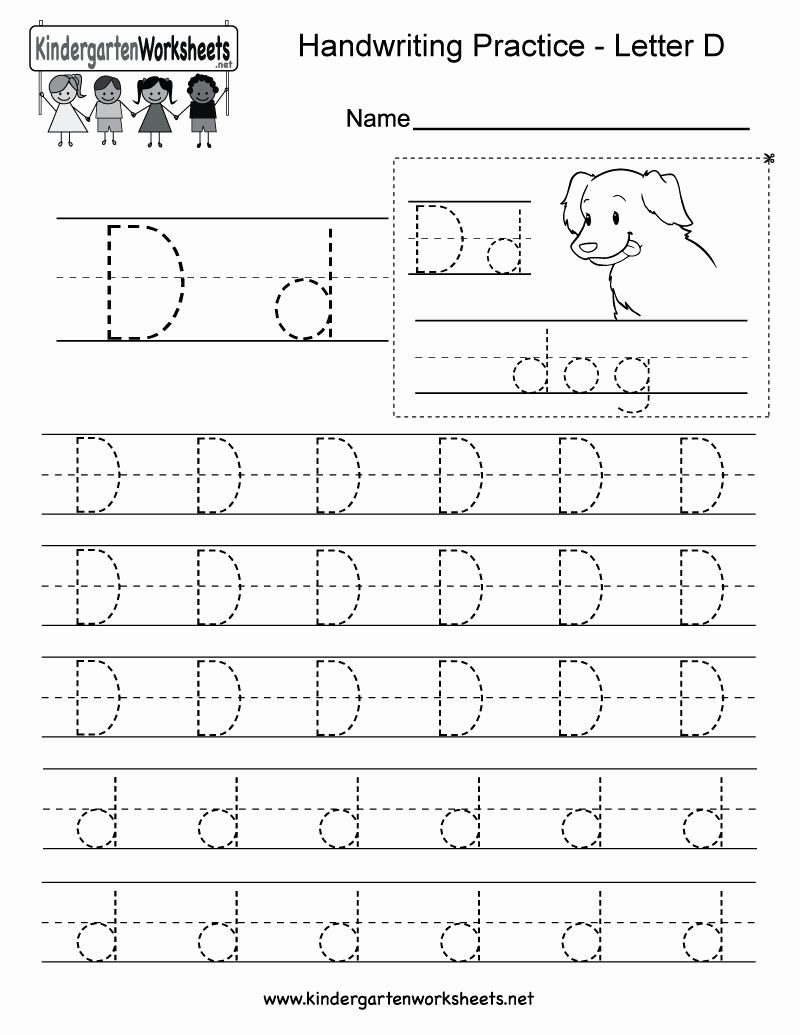 Letter D Worksheet for Preschool Fresh Letter D Writing Practice Worksheet Free Kindergarten