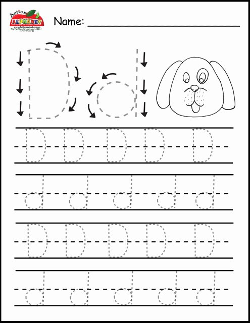 Letter D Worksheet for Preschool Inspirational Letter D Activities