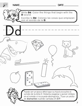 Letter D Worksheet for Preschool Inspirational Letter D sound Worksheet with Instructions Translated Into
