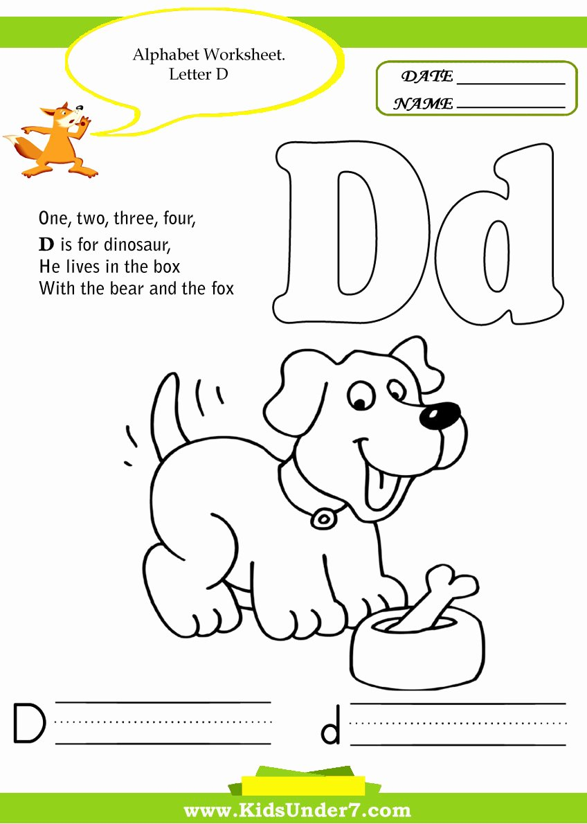 Letter D Worksheet for Preschool Lovely Interesting Worksheets for Kids Chapter 1 Worksheet
