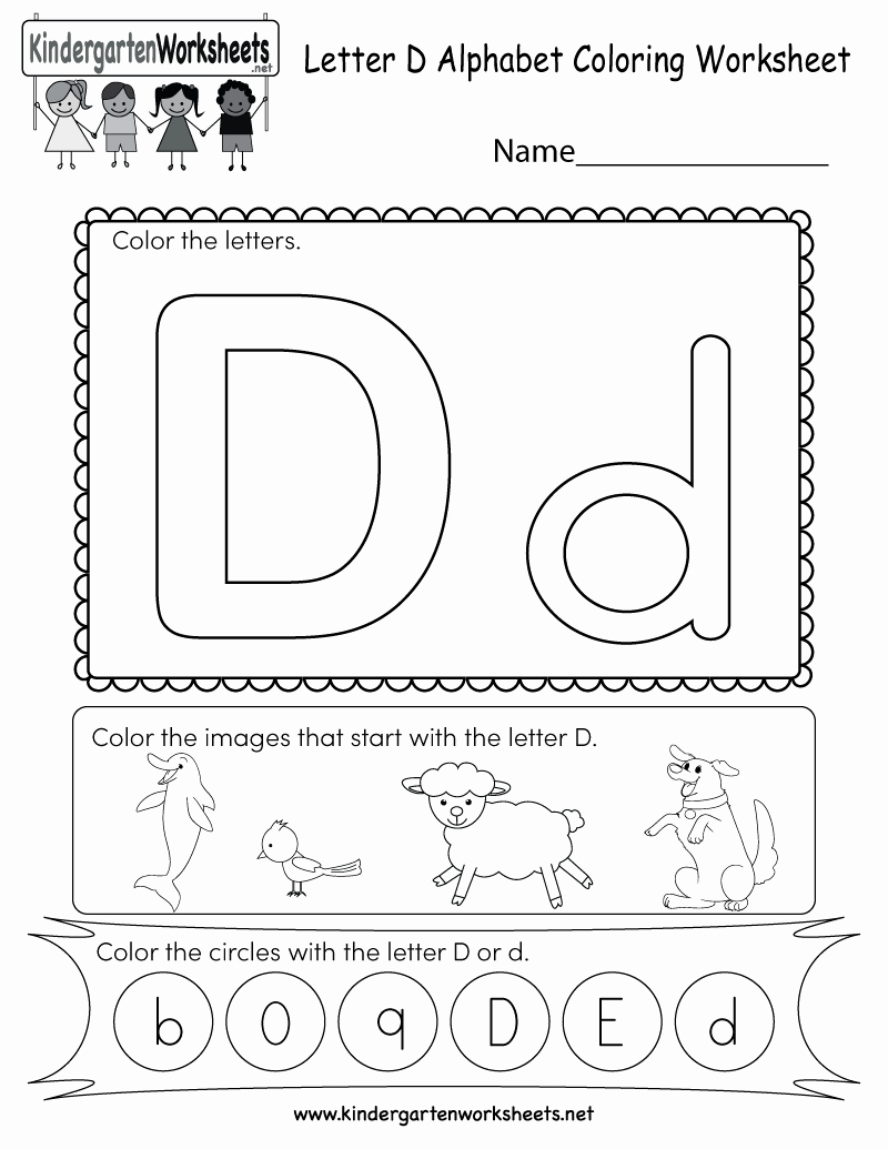 Letter D Worksheet for Preschool Lovely Letter D Coloring Worksheet Free Kindergarten English