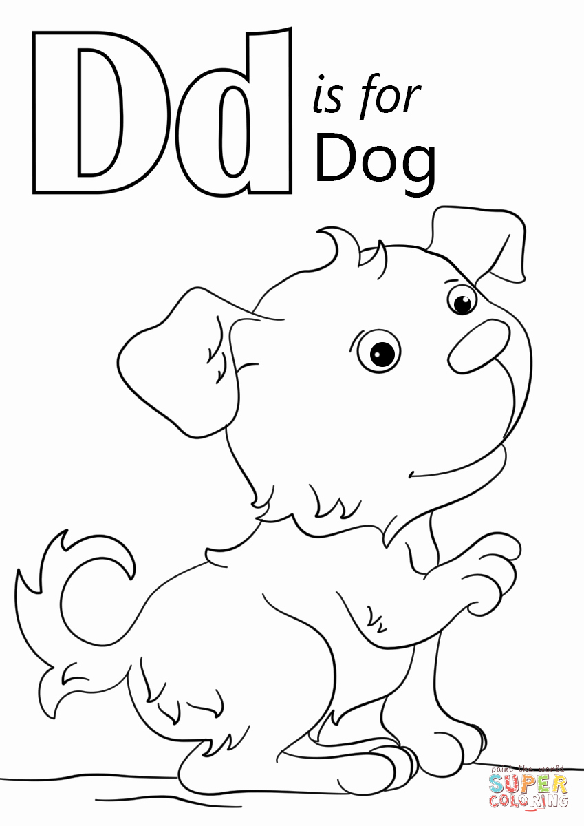Letter D Worksheet for Preschool Luxury نتيجة بحث الصور عن ‪letter D Dog Worksheet
