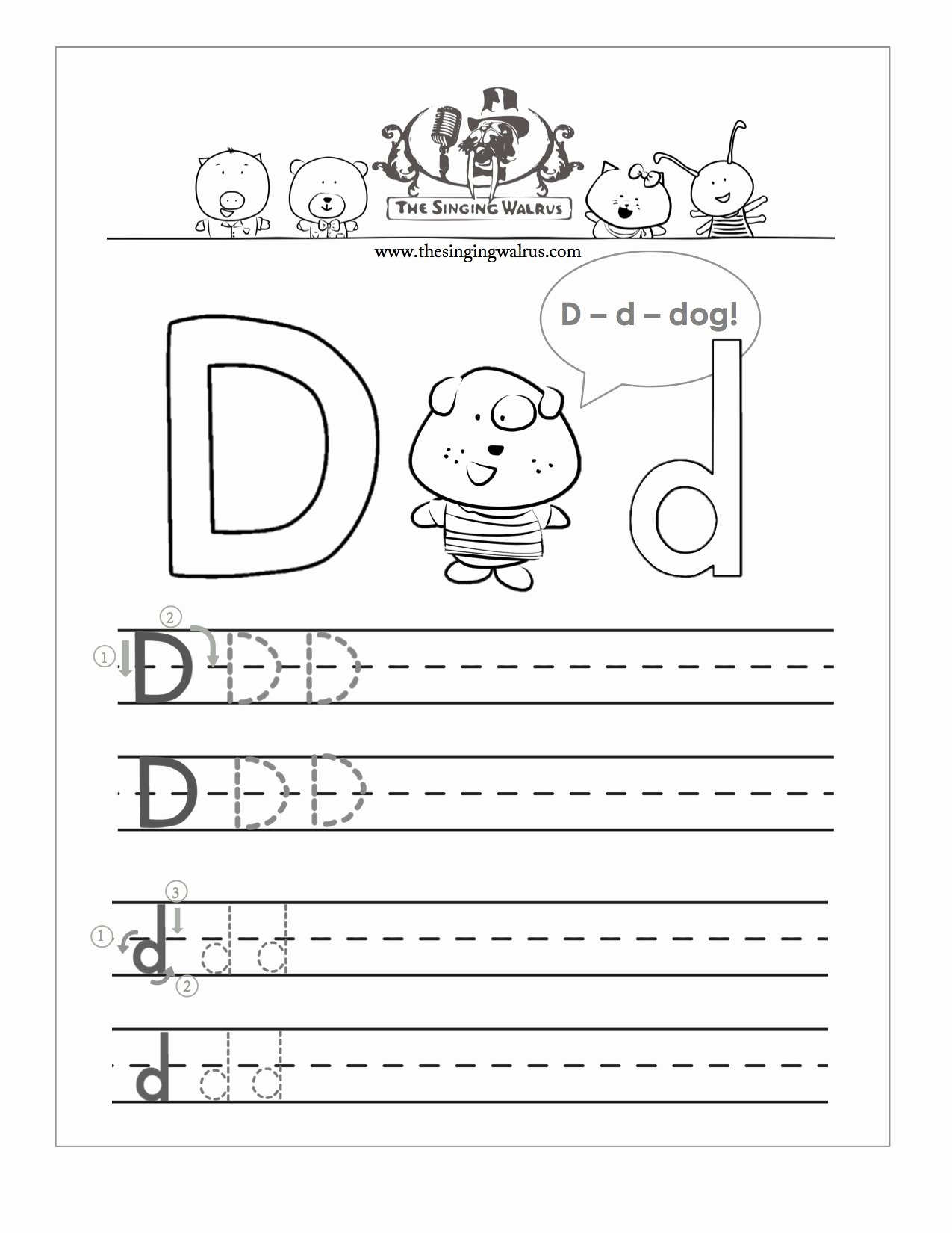 Letter D Worksheet for Preschool Luxury Free Handwriting Worksheets for the Alphabet