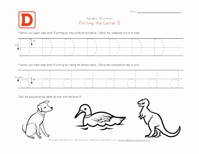 Letter D Worksheet for Preschool New Free Printable Letter D Worksheets