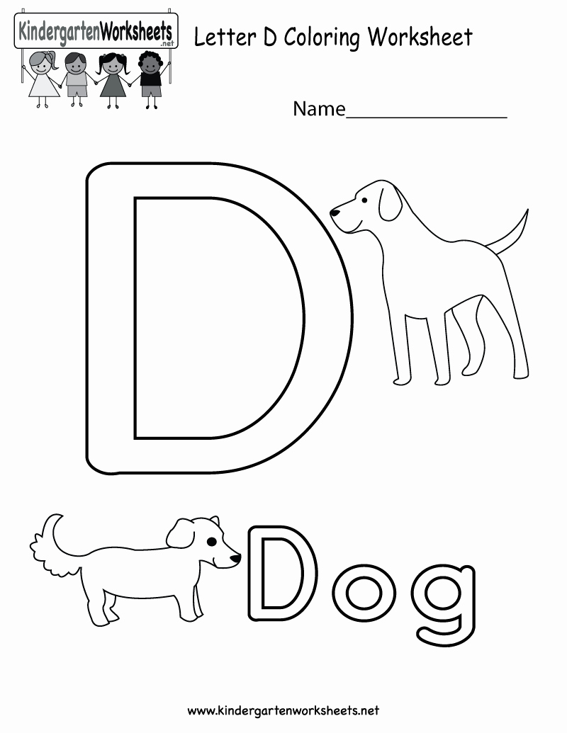 Letter D Worksheet for Preschool Unique Letter D Coloring Worksheet for Kids In Preschool or