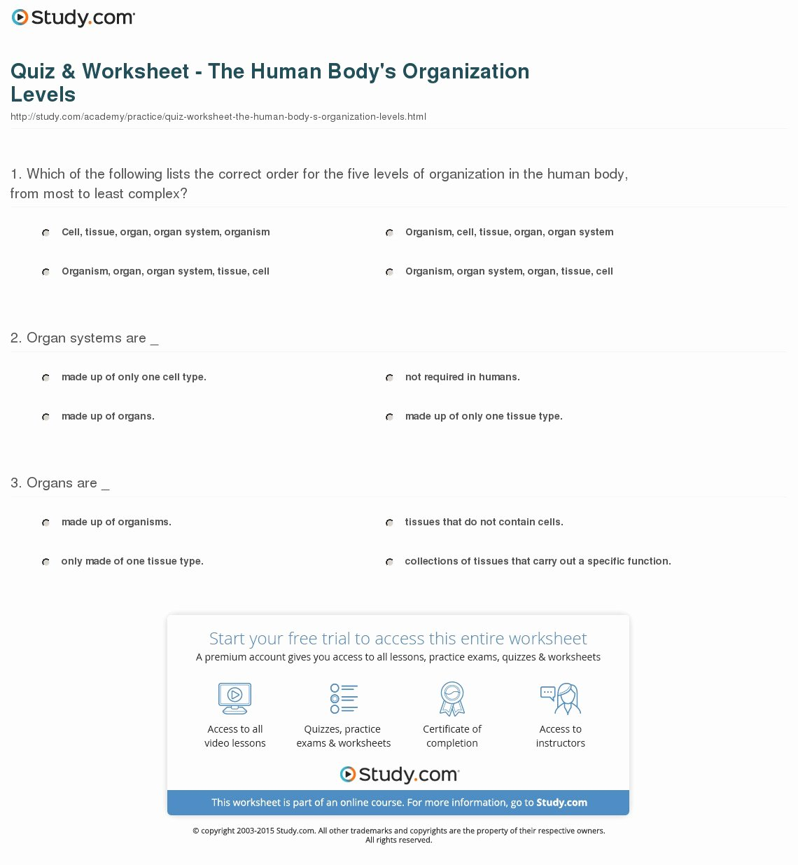Levels Of Biological organization Worksheet Fresh Biological Levels organization Worksheets