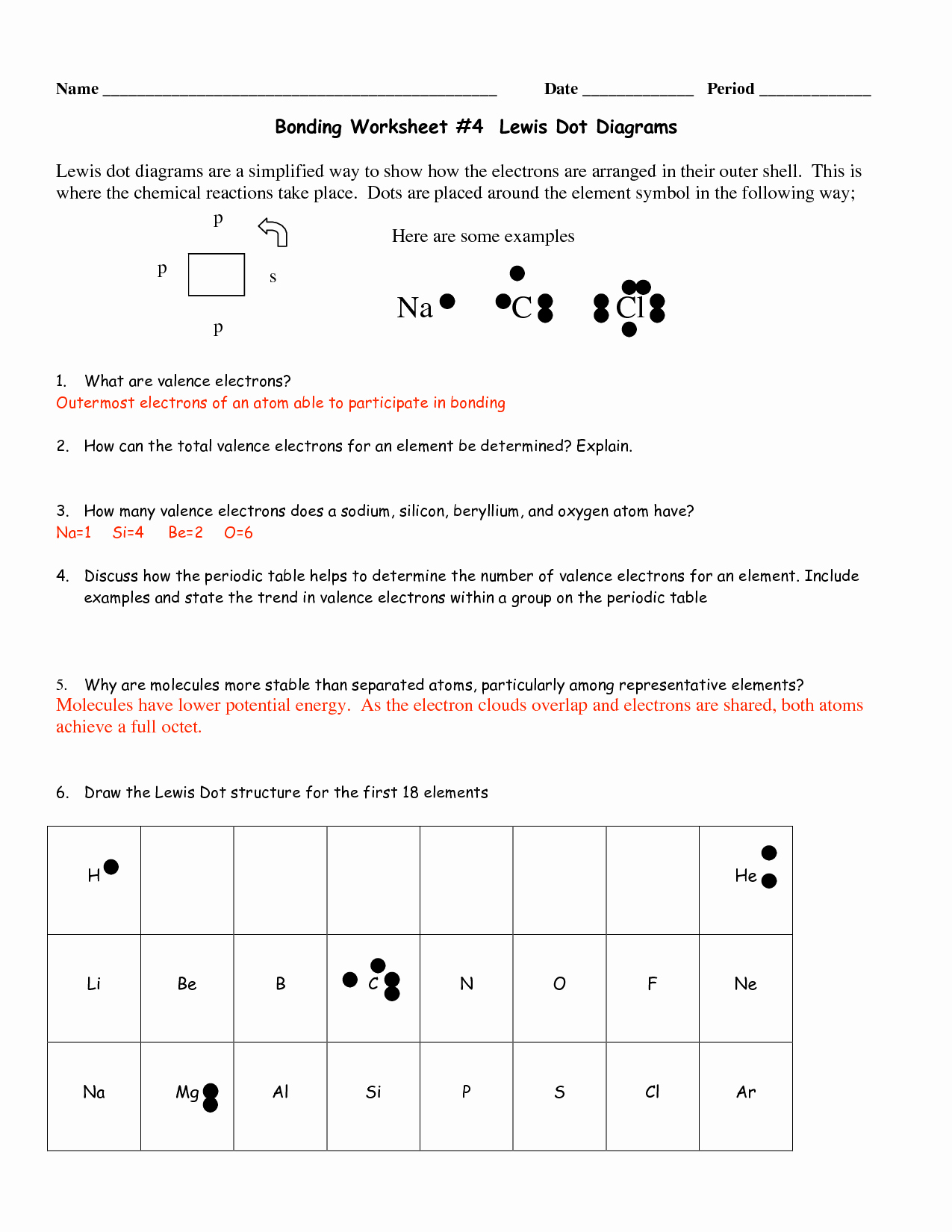 Lewis Dot Diagram Worksheet Beautiful Dot Worksheet Category Page 6 Worksheeto