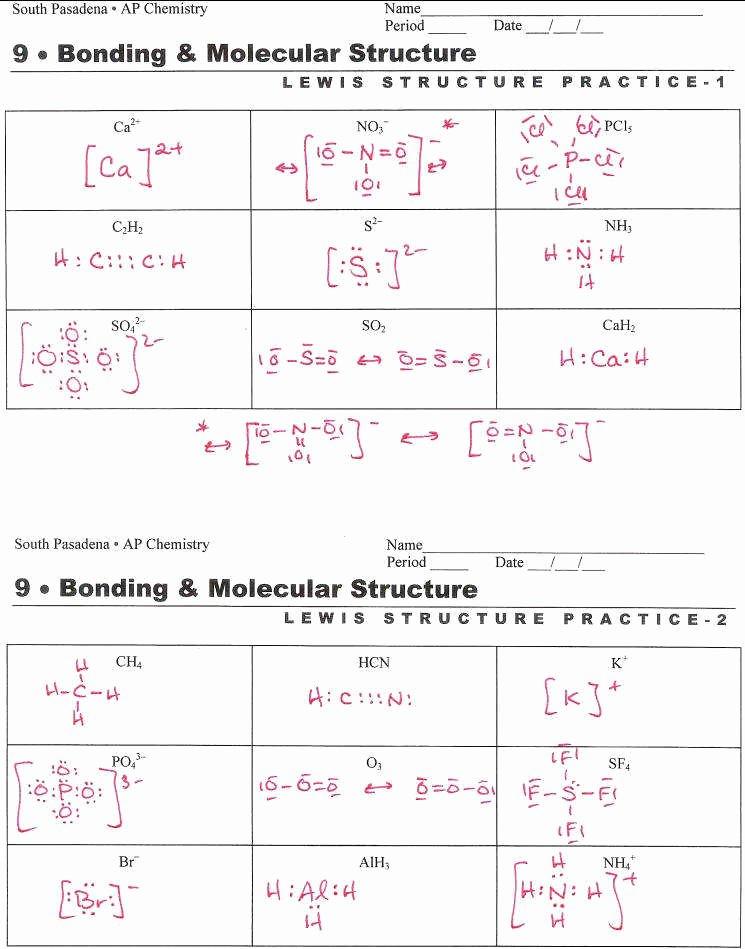Lewis Dot Diagram Worksheet Best Of Lewis Dot Structure Worksheet