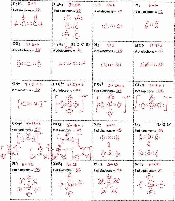 Lewis Dot Diagram Worksheet Inspirational Lewis Structure Practice Worksheet