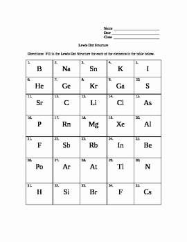 Lewis Dot Diagrams Worksheet Answers Fresh Lewis Dot Structure Mini Lesson and Worksheet by Candace