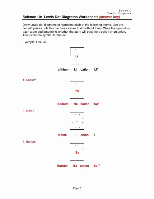 Lewis Dot Diagrams Worksheet Answers Fresh Science 10 Lewis Dot Diagrams Worksheet Answer Key