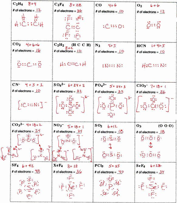 Lewis Dot Diagrams Worksheet Answers Luxury Lewis Structure Practice Worksheet