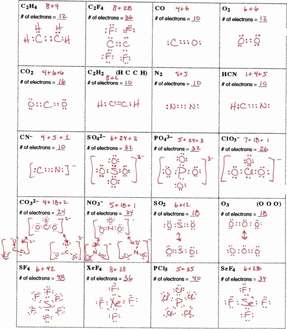 Lewis Dot Diagrams Worksheet Answers Unique 25 Luxury Lewis Structure Practice Worksheet