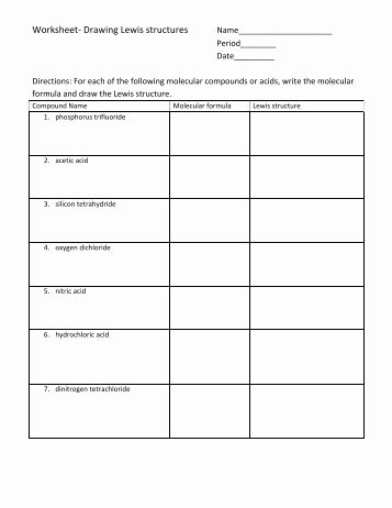 Lewis Dot Structure Practice Worksheet Beautiful C Phosphite Ion Po3