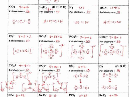 Lewis Dot Structure Practice Worksheet Best Of Lewis Structures Worksheet