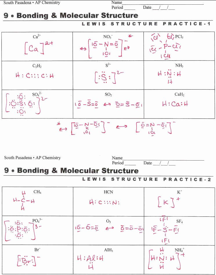 Lewis Dot Structure Practice Worksheet Elegant Vsepr Worksheet